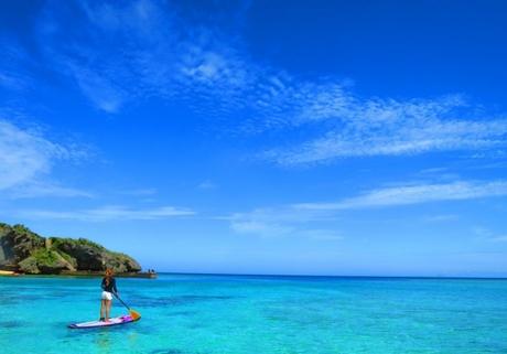 沖縄の楽園の海でSUPクルージング &シュノーケル(半日ツアー)